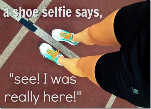 track shoe selfie