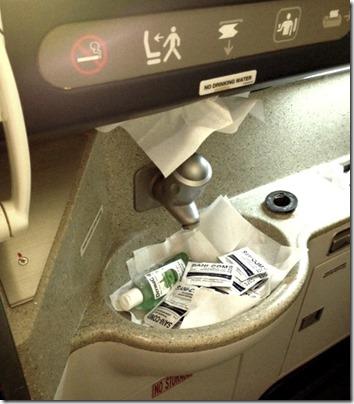airplane broken sink