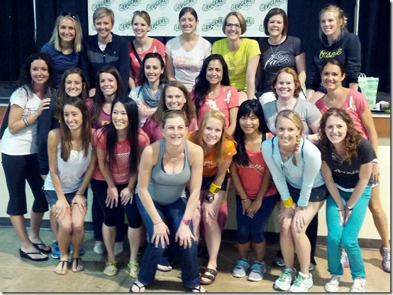 oiselle team with fleshman