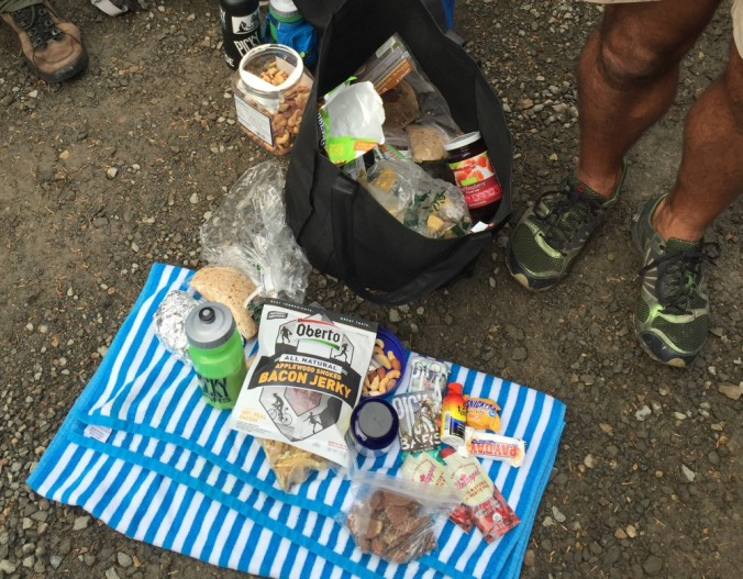 100 miler aid station feed bag